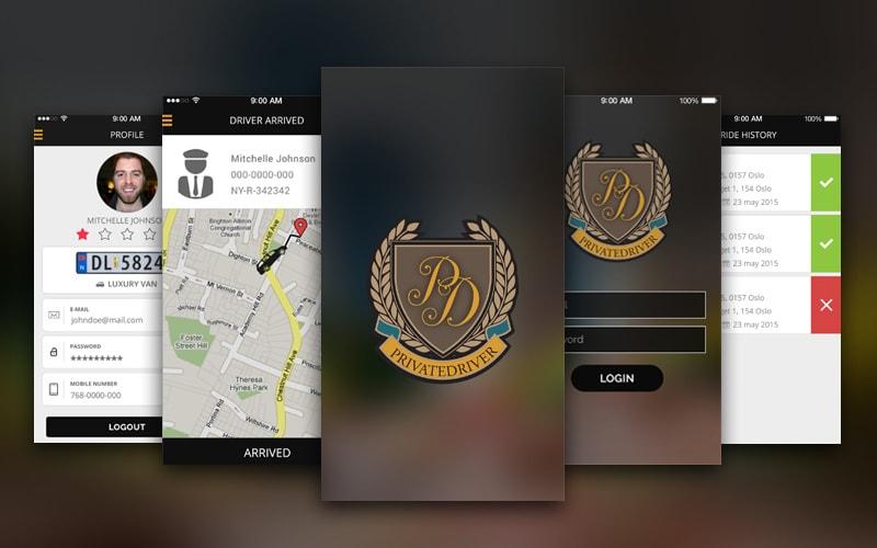 Private Driver Taxi App